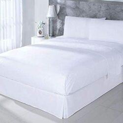 Juego de sábanas hotel blancas baratas algodón 100%