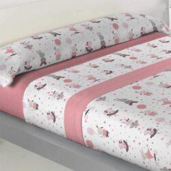 Sabanas Coralina infantil para camas de 90 y 105,