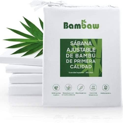 sabana bajera de fibra de bambu